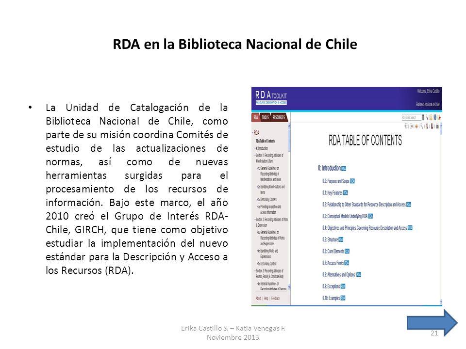 RDA en la Biblioteca Nacional de Chile