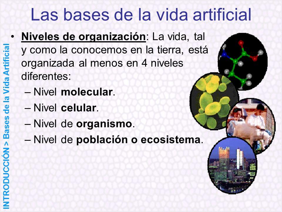 Las bases de la vida artificial