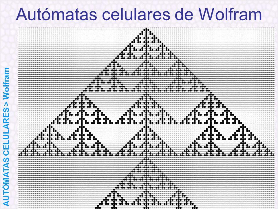 Autómatas celulares de Wolfram