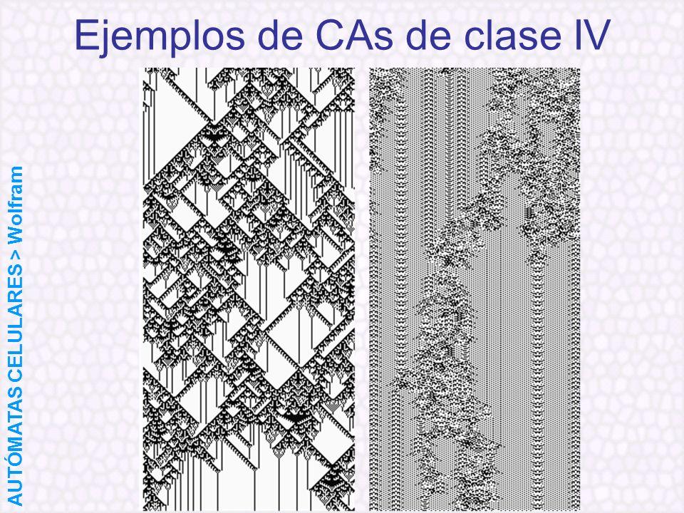 Ejemplos de CAs de clase IV