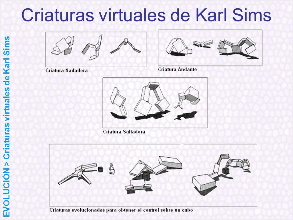 Criaturas virtuales de Karl Sims