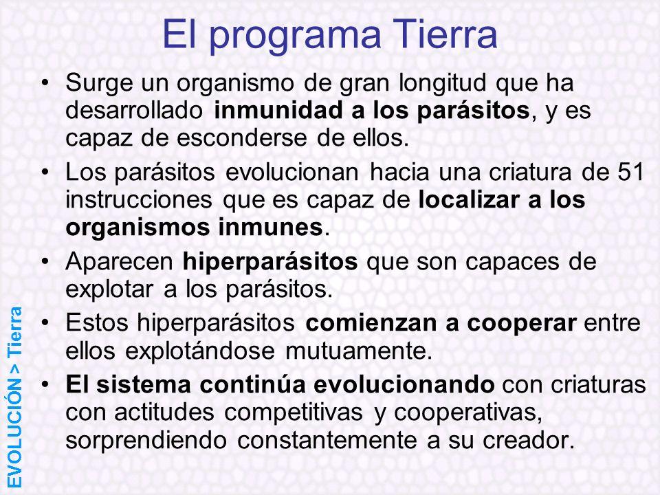El programa TierraSurge un organismo de gran longitud que ha desarrollado inmunidad a los parásitos, y es capaz de esconderse de ellos.