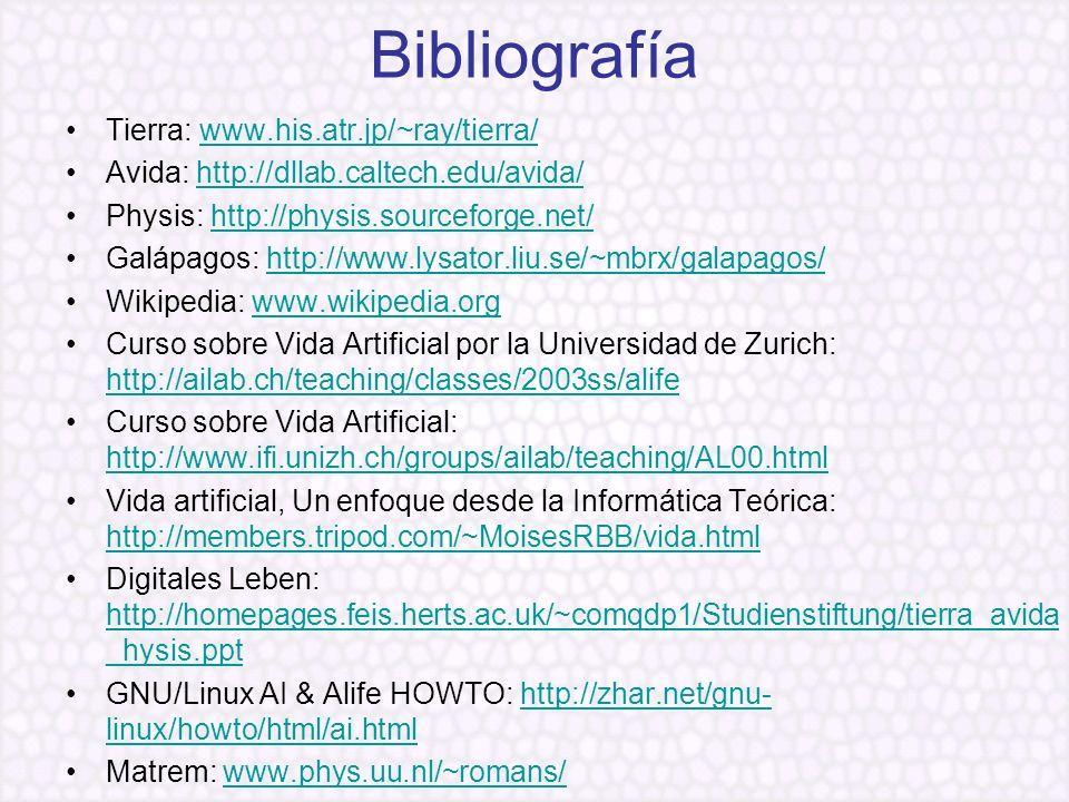 Bibliografía Tierra: www.his.atr.jp/~ray/tierra/