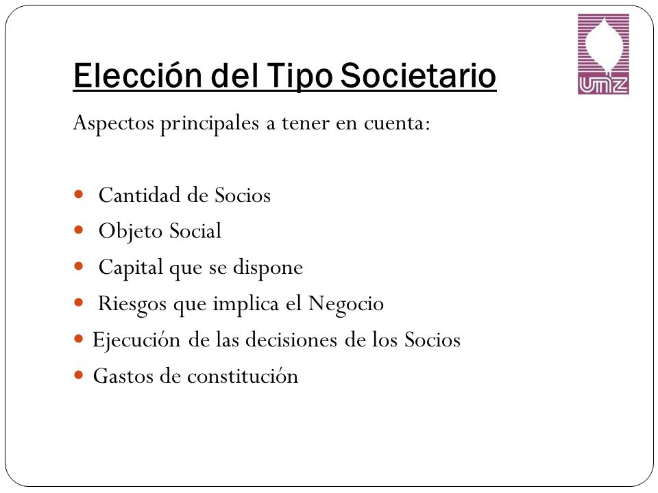 Elección del Tipo Societario