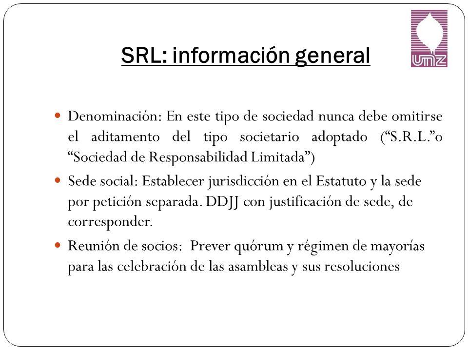 SRL: información general