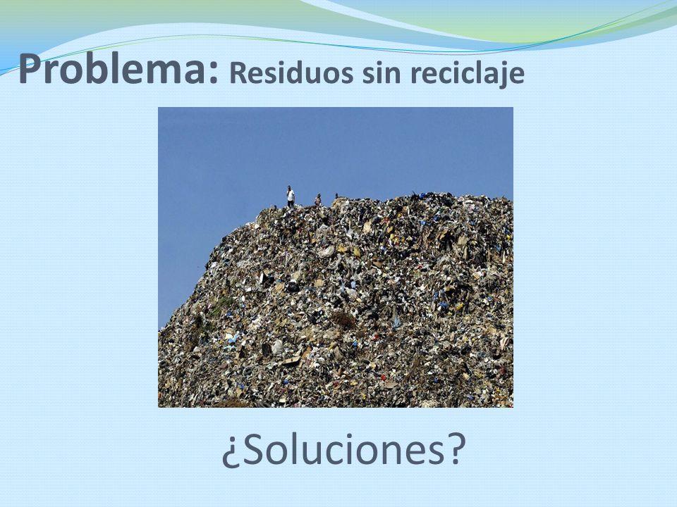 Problema: Residuos sin reciclaje
