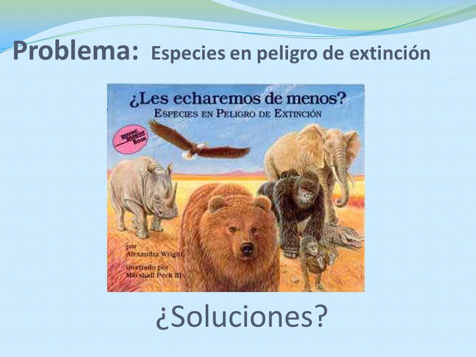 Problema: Especies en peligro de extinción