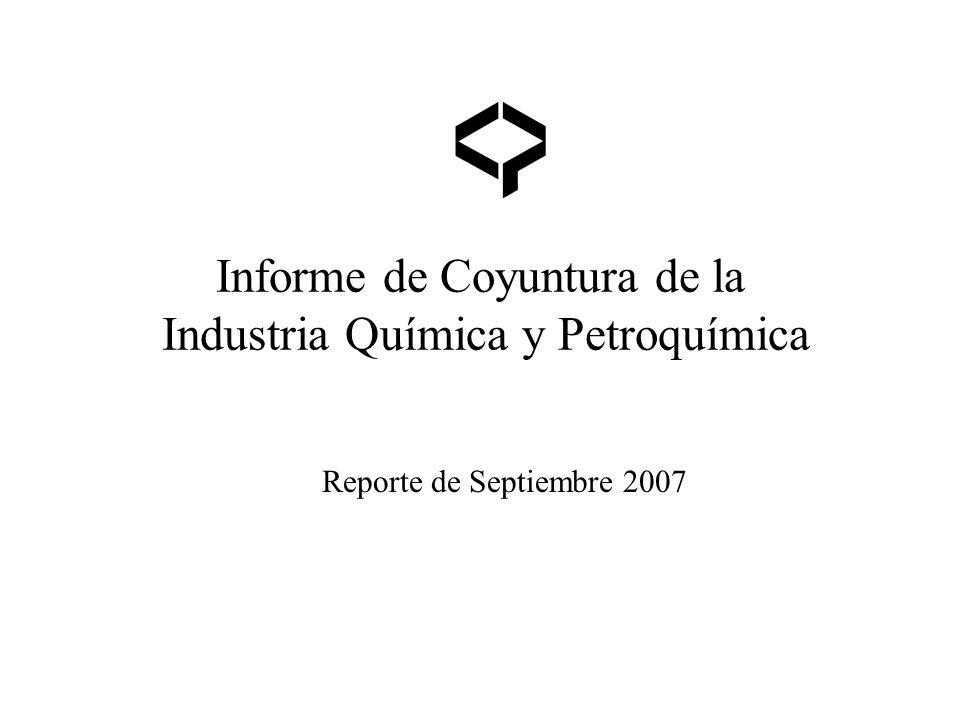 Informe de Coyuntura de la Industria Química y Petroquímica