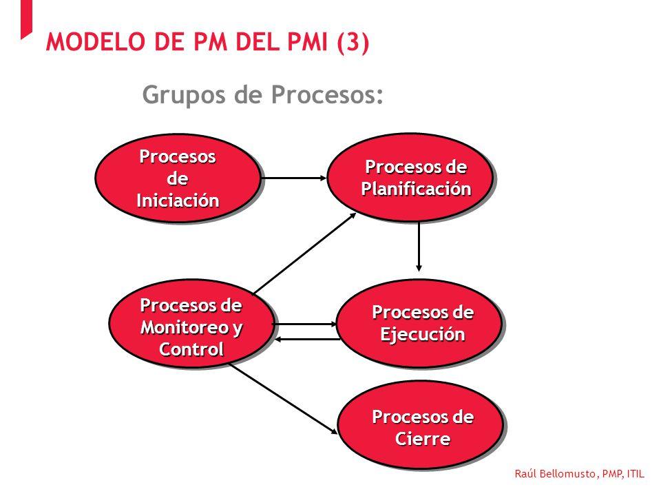 MODELO DE PM DEL PMI (3) Grupos de Procesos: Procesos de Iniciación