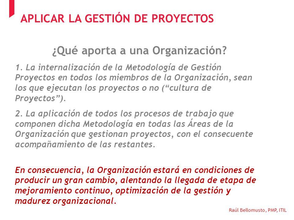 ¿Qué aporta a una Organización