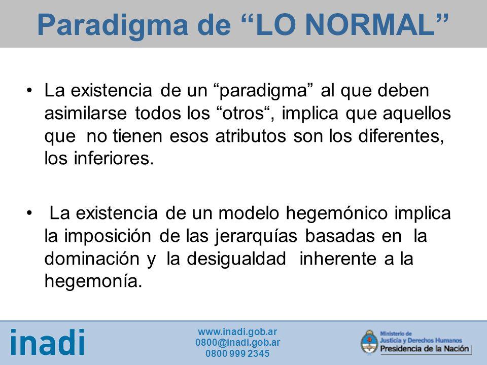 Paradigma de LO NORMAL