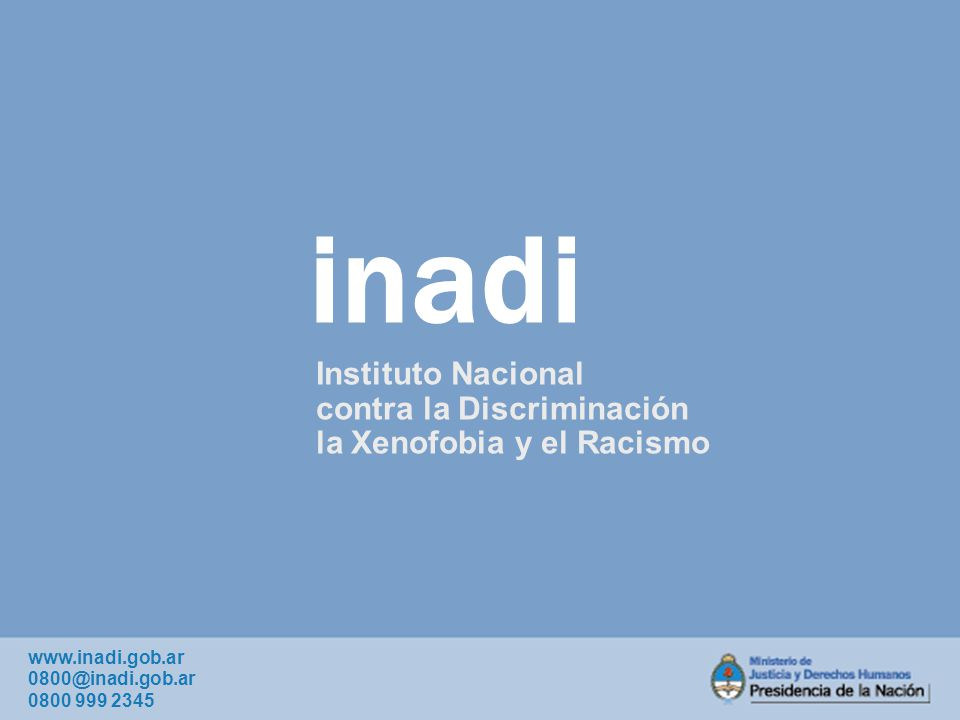 inadi Instituto Nacional contra la Discriminación