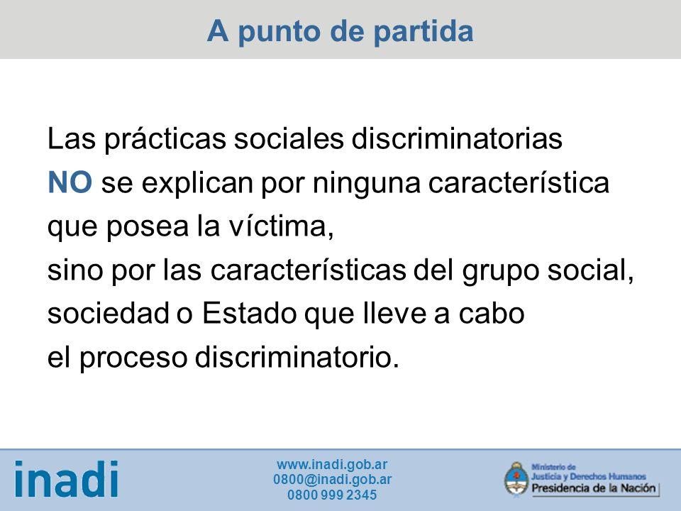 Las prácticas sociales discriminatorias