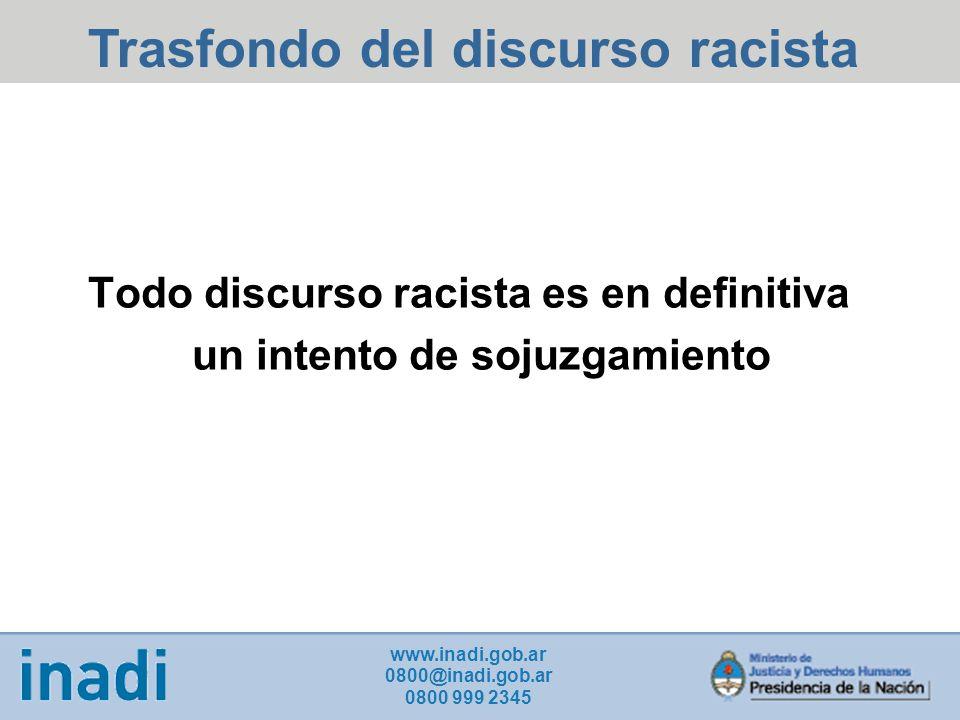 Trasfondo del discurso racista