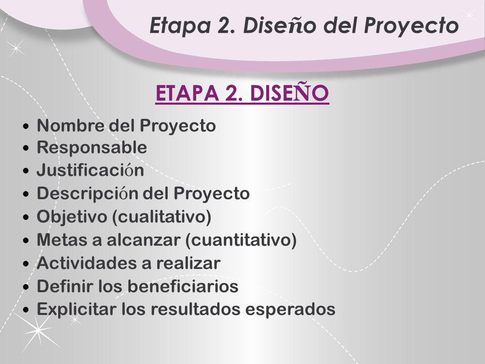 Etapa 2. Diseño del Proyecto