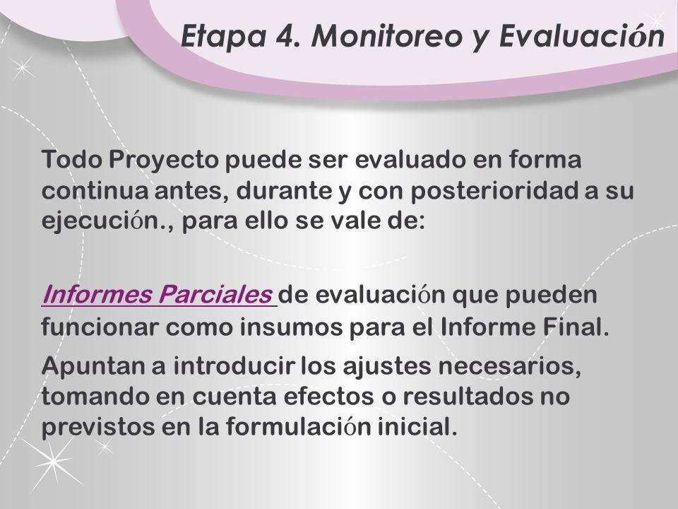 Etapa 4. Monitoreo y Evaluación