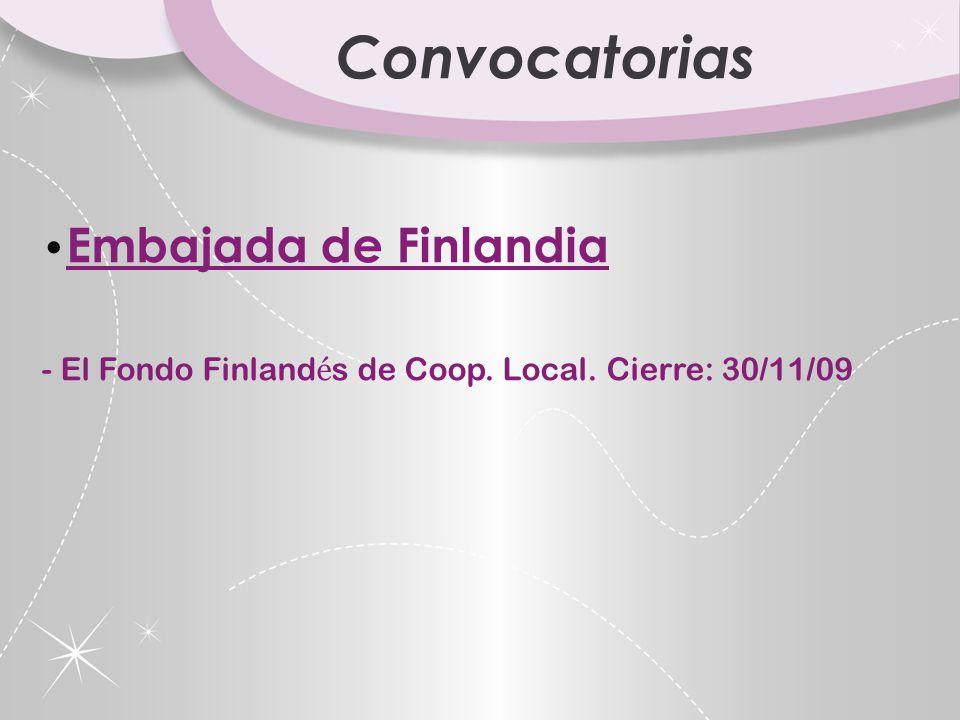 Convocatorias Embajada de Finlandia