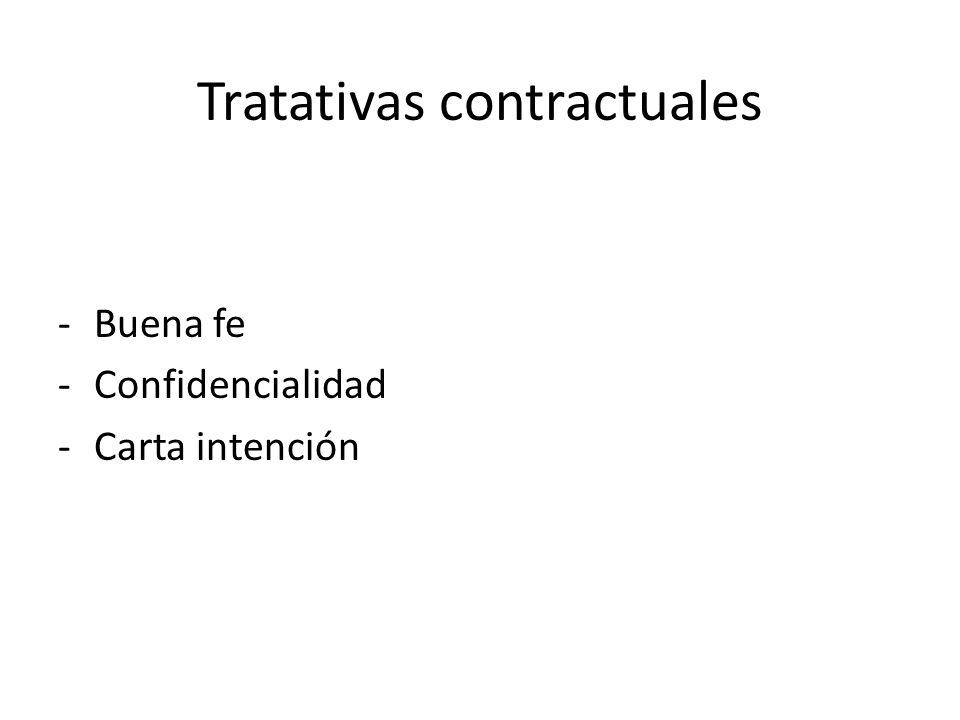 Tratativas contractuales