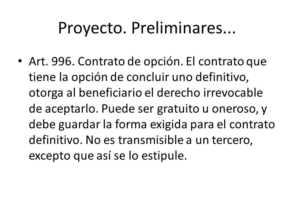 Proyecto. Preliminares...