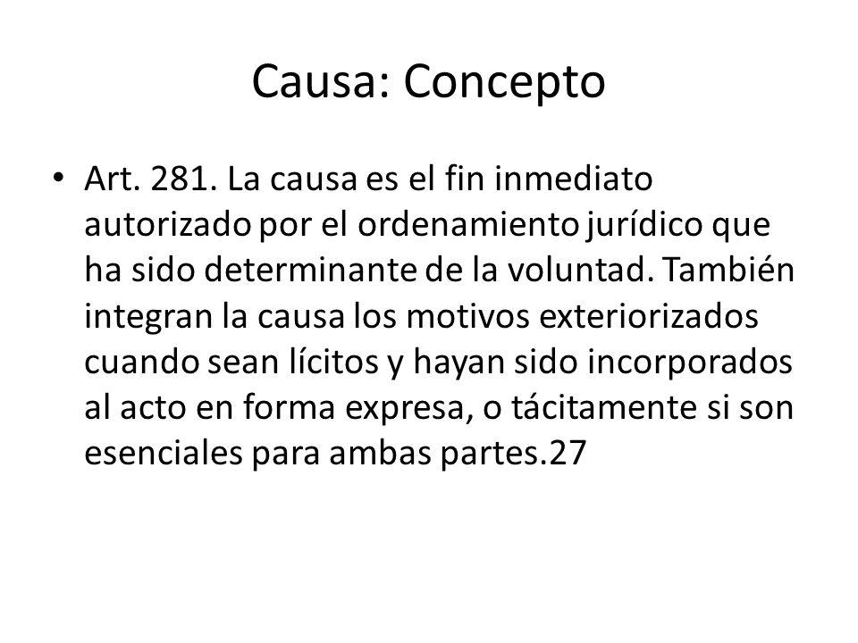Causa: Concepto