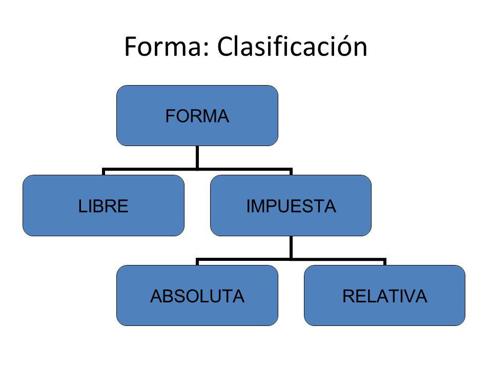 Forma: Clasificación
