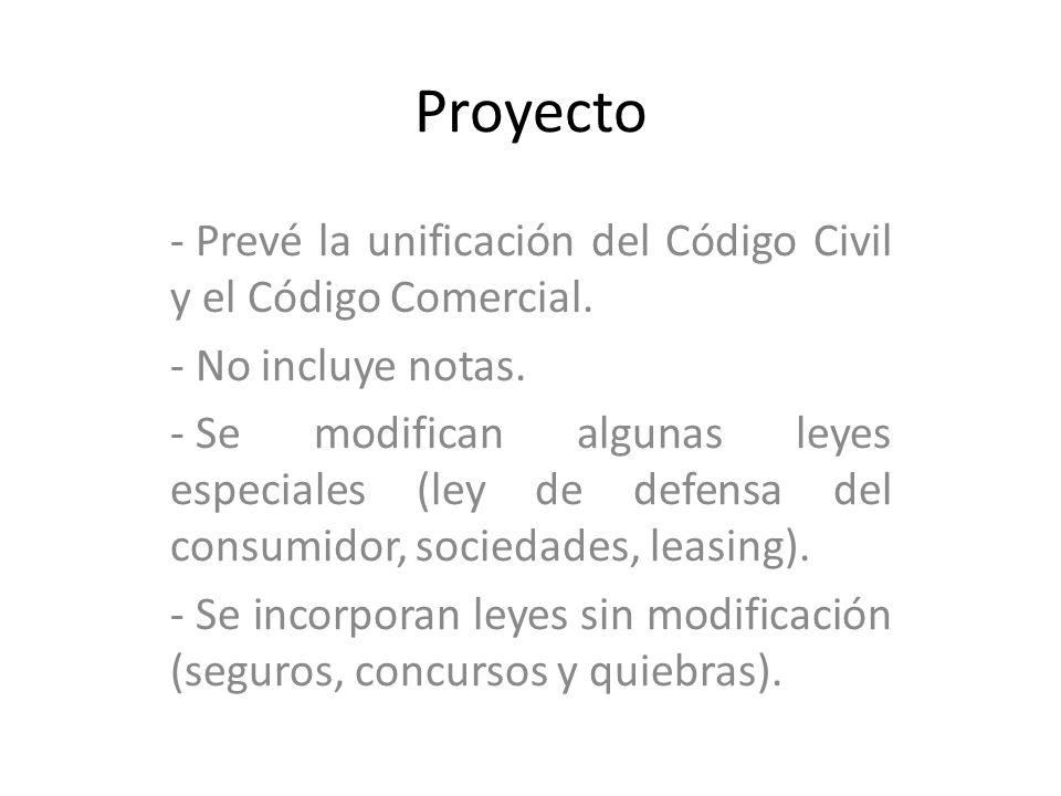 Proyecto Prevé la unificación del Código Civil y el Código Comercial.