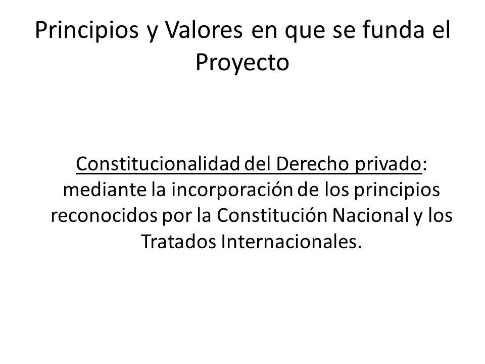 Principios y Valores en que se funda el Proyecto