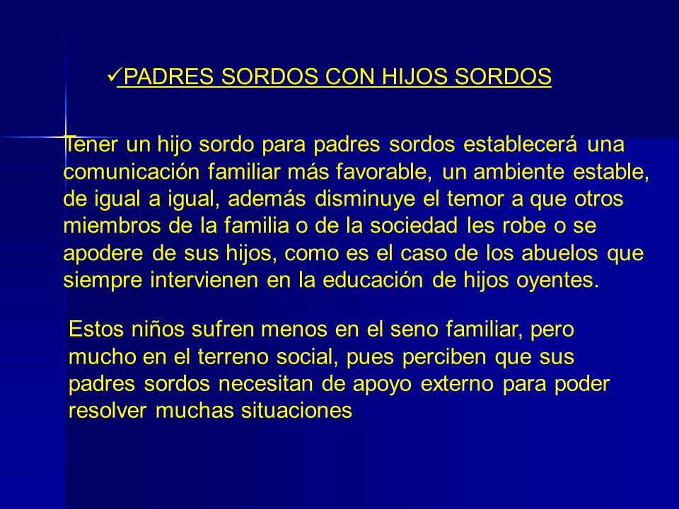 PADRES SORDOS CON HIJOS SORDOS