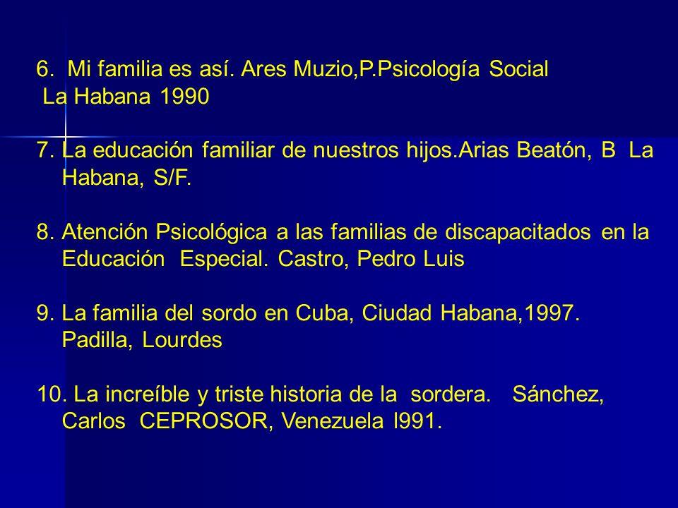 6. Mi familia es así. Ares Muzio,P.Psicología Social