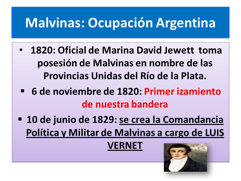 Malvinas: Ocupación Argentina