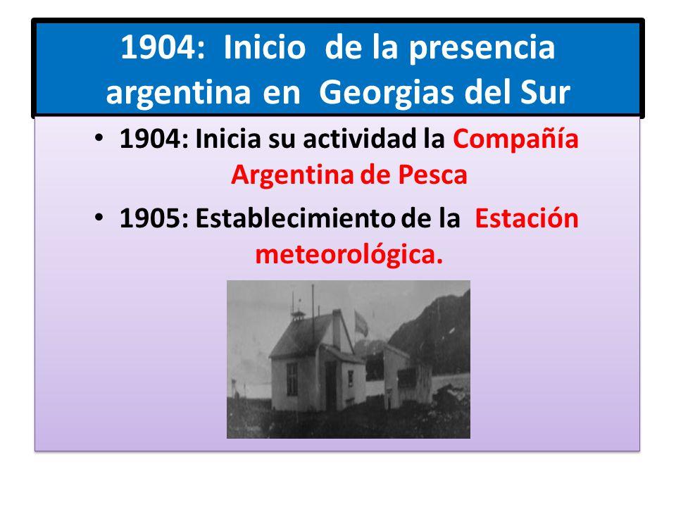 1904: Inicio de la presencia argentina en Georgias del Sur