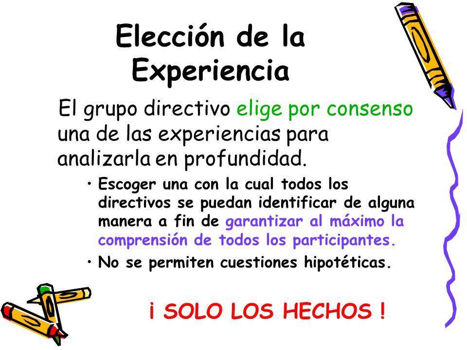 Elección de la Experiencia