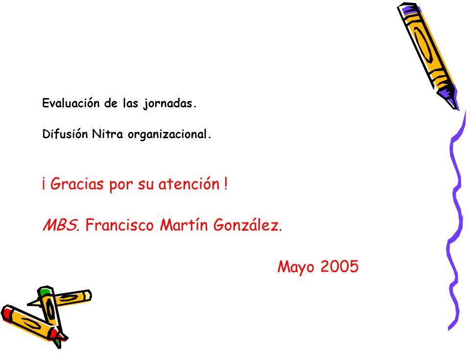 ¡ Gracias por su atención ! MBS. Francisco Martín González. Mayo 2005