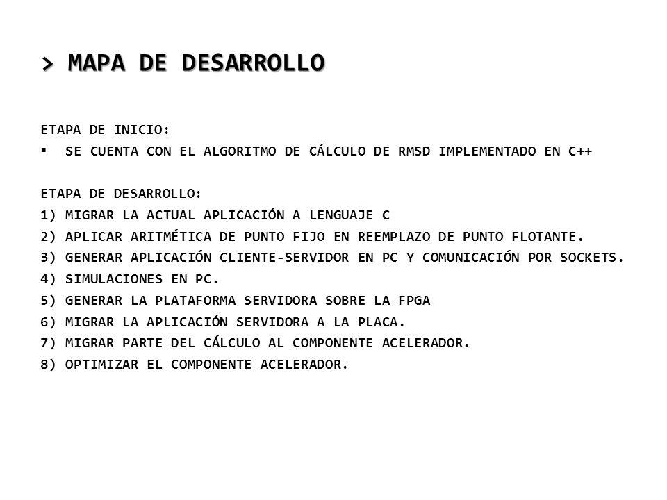 > MAPA DE DESARROLLO