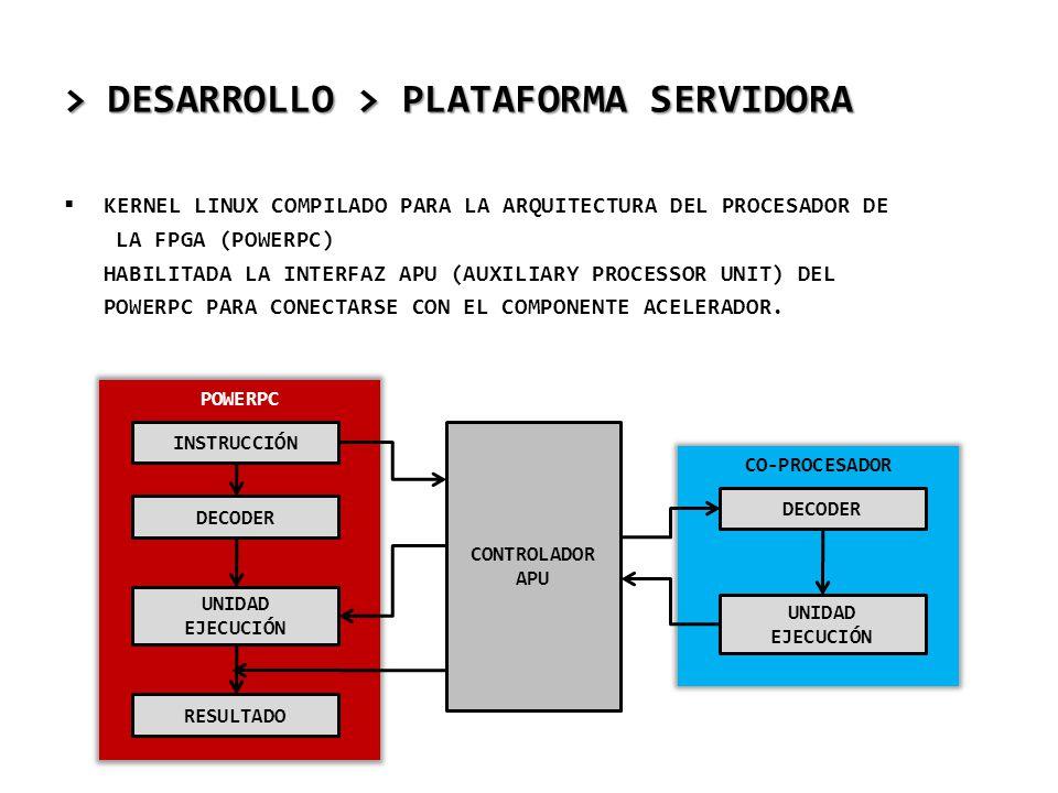 > DESARROLLO > PLATAFORMA SERVIDORA