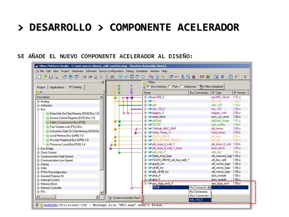 > DESARROLLO > COMPONENTE ACELERADOR