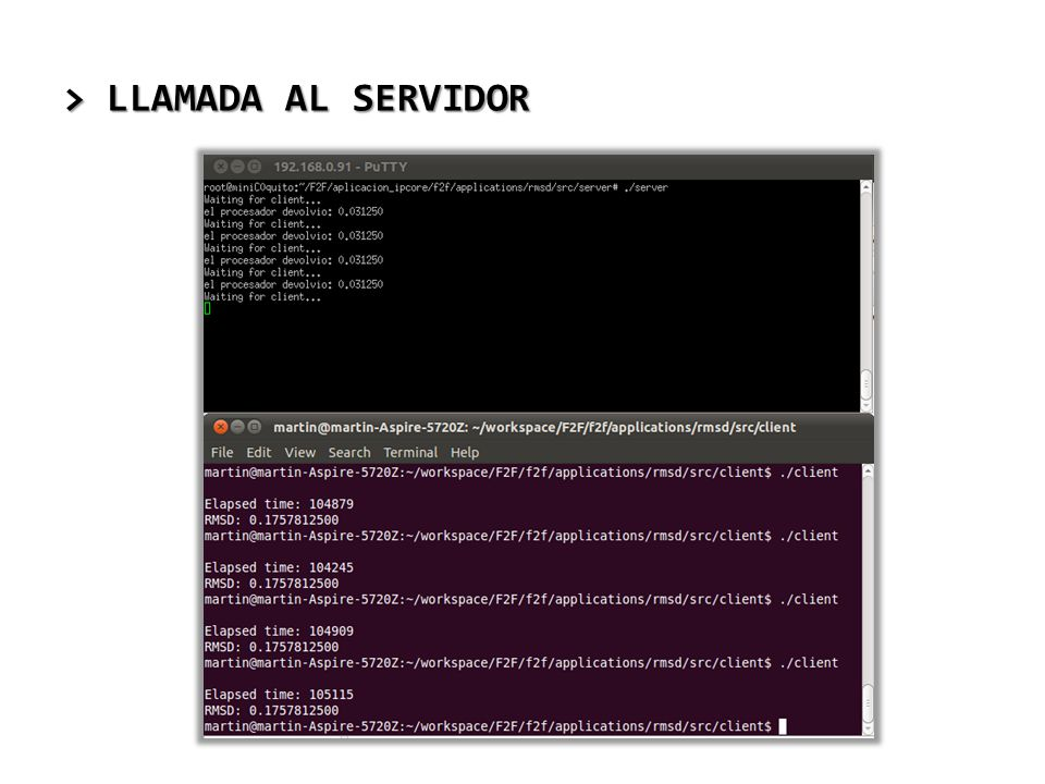 > LLAMADA AL SERVIDOR