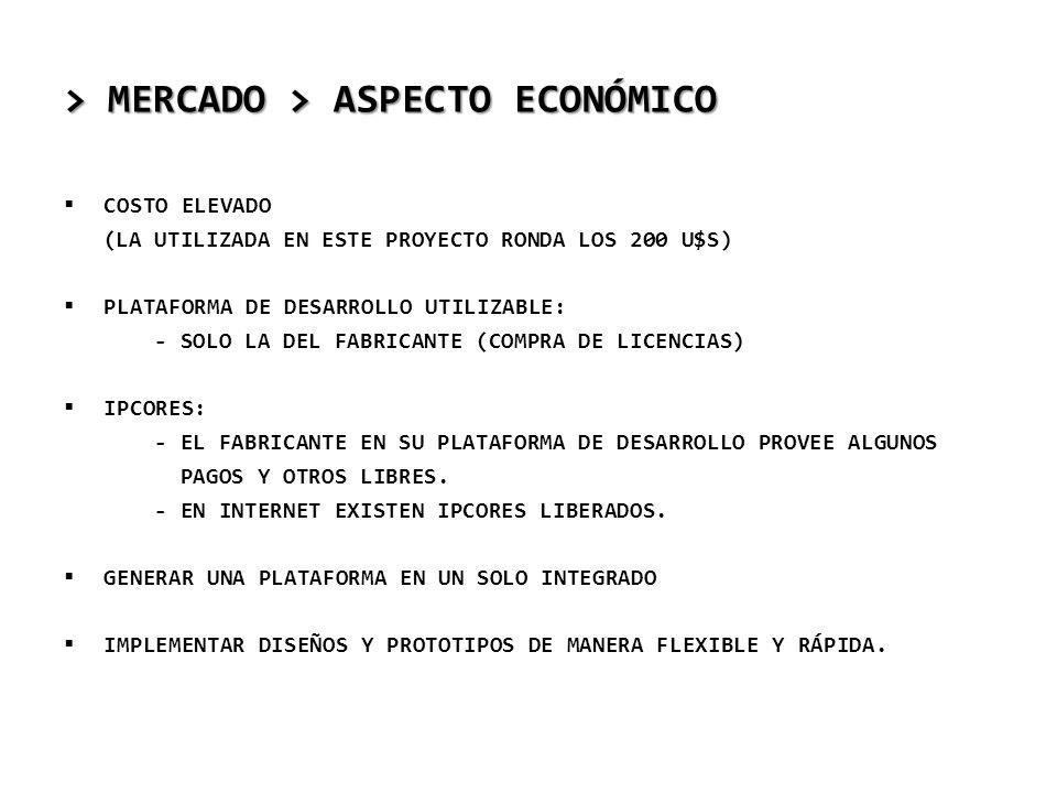 > MERCADO > ASPECTO ECONÓMICO