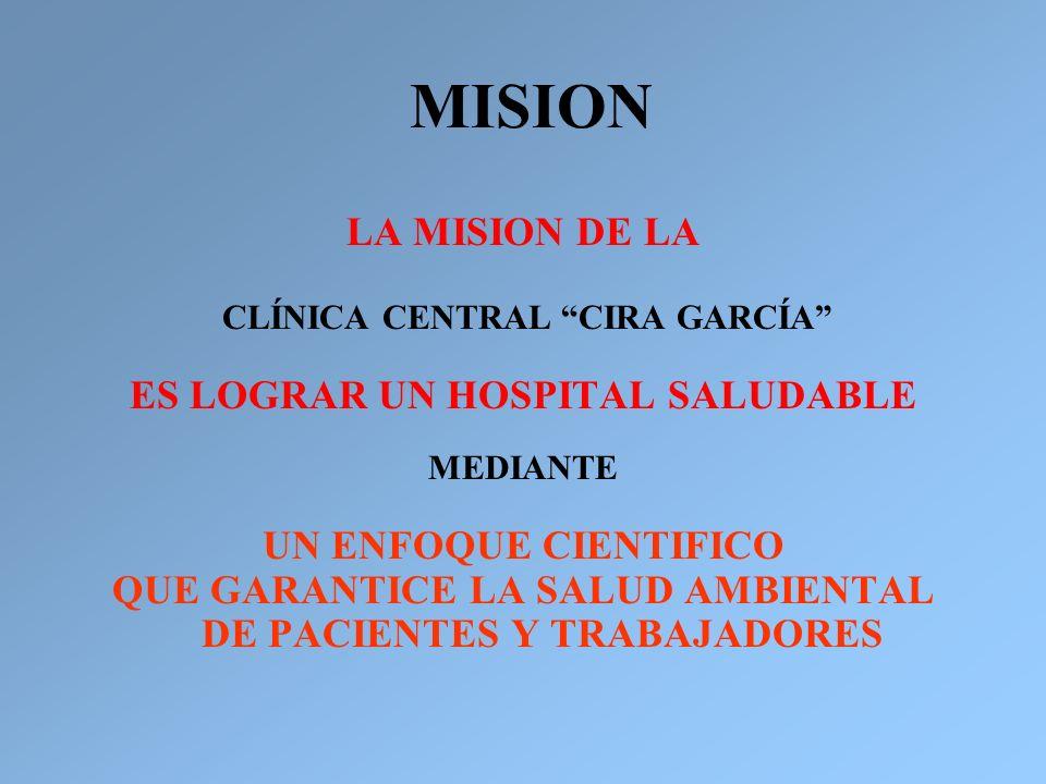 MISION LA MISION DE LA ES LOGRAR UN HOSPITAL SALUDABLE