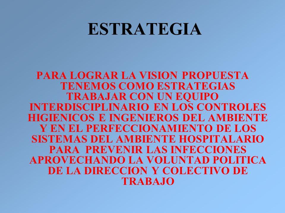 PARA LOGRAR LA VISION PROPUESTA TENEMOS COMO ESTRATEGIAS