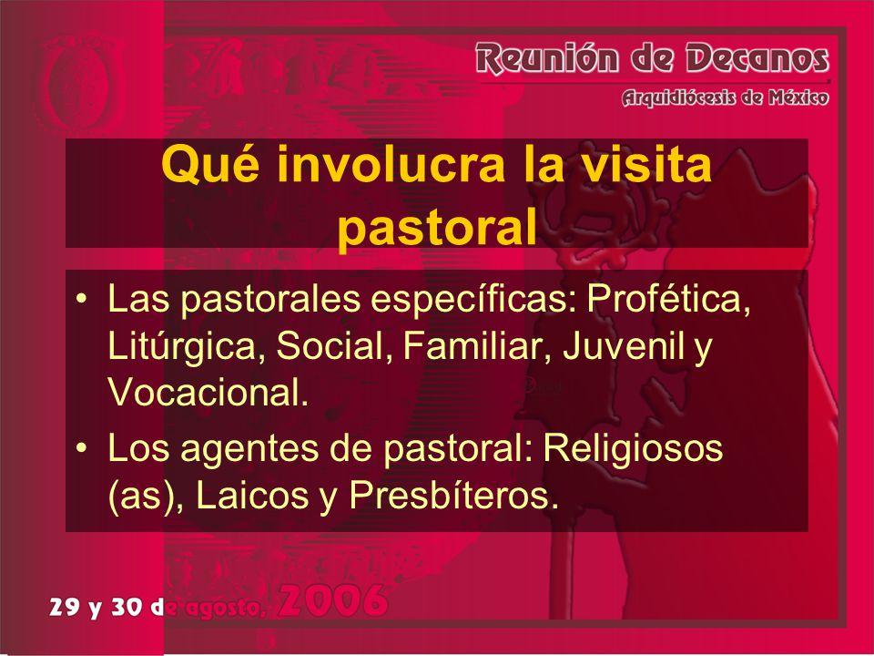 Qué involucra la visita pastoral