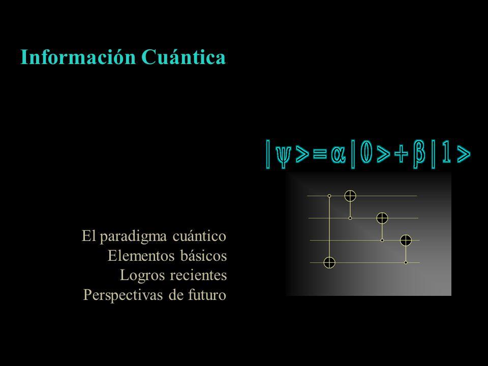 Información Cuántica El paradigma cuántico Elementos básicos