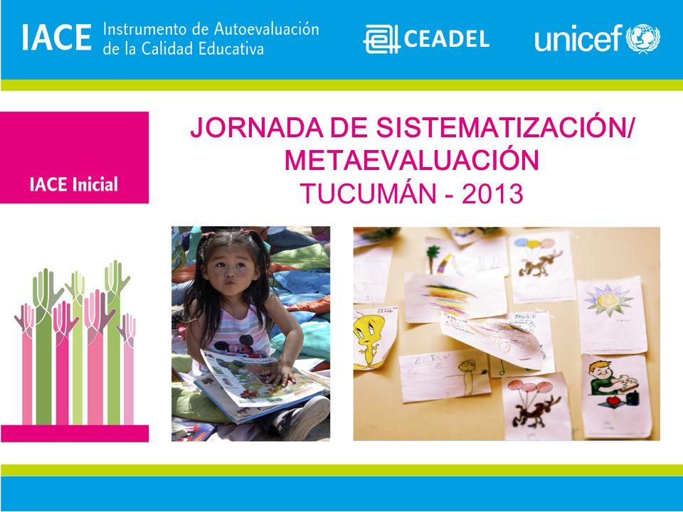 JORNADA DE SISTEMATIZACIÓN/ METAEVALUACIÓN TUCUMÁN - 2013