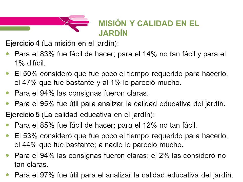 MISIÓN Y CALIDAD EN EL JARDÍN
