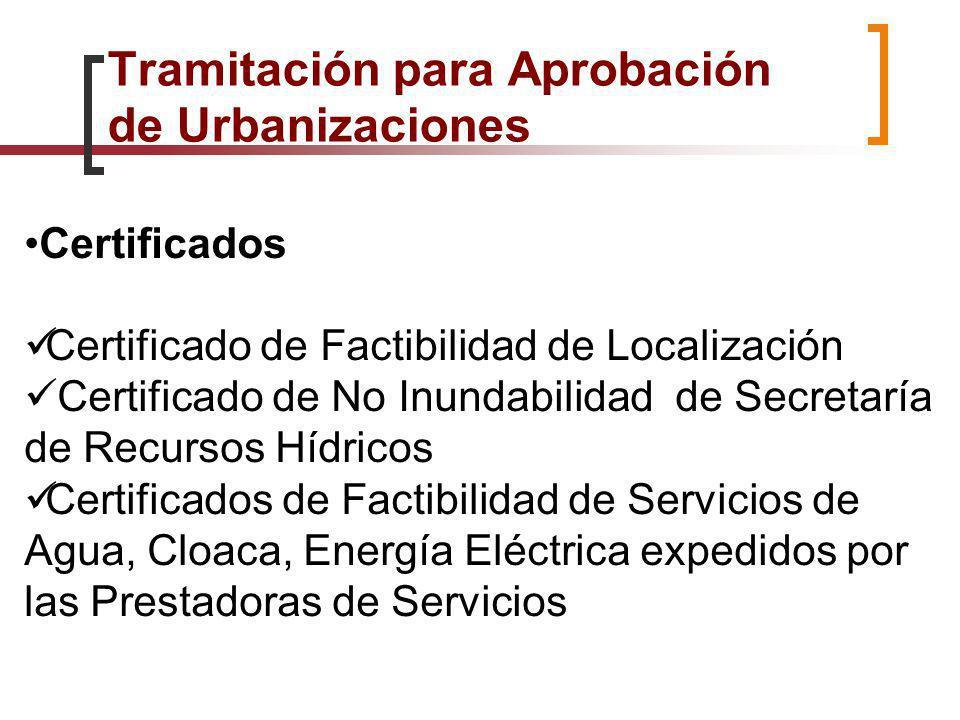 Tramitación para Aprobación de Urbanizaciones