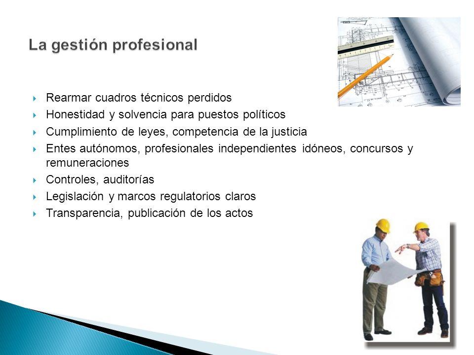 La gestión profesional