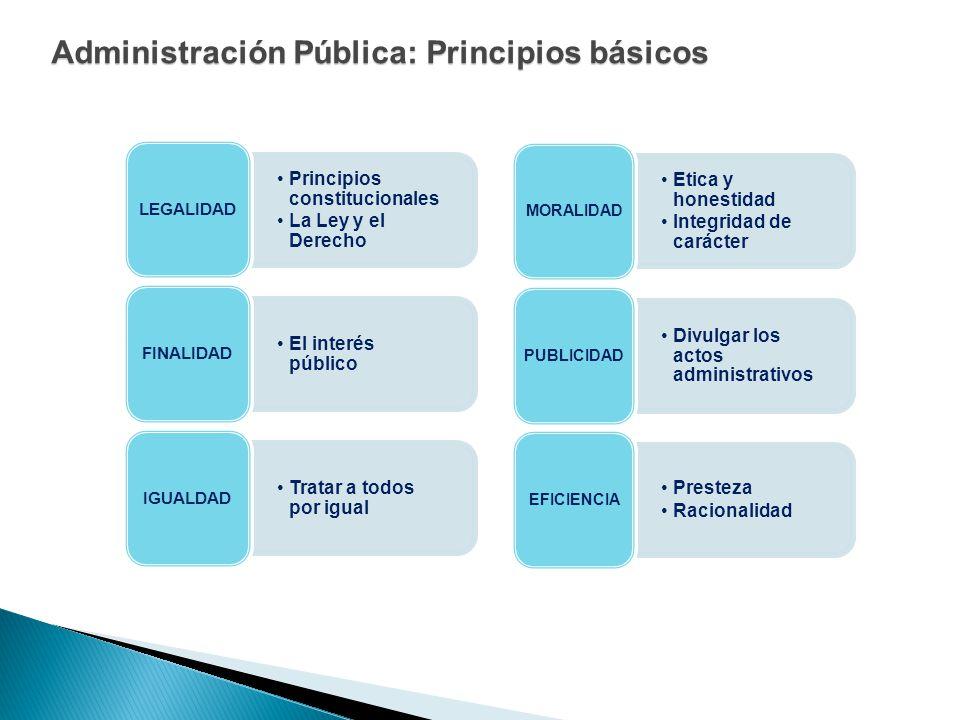 Administración Pública: Principios básicos