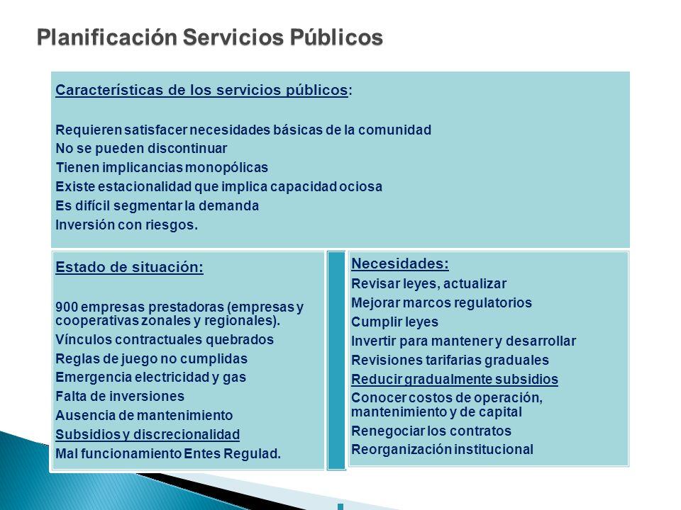 Planificación Servicios Públicos