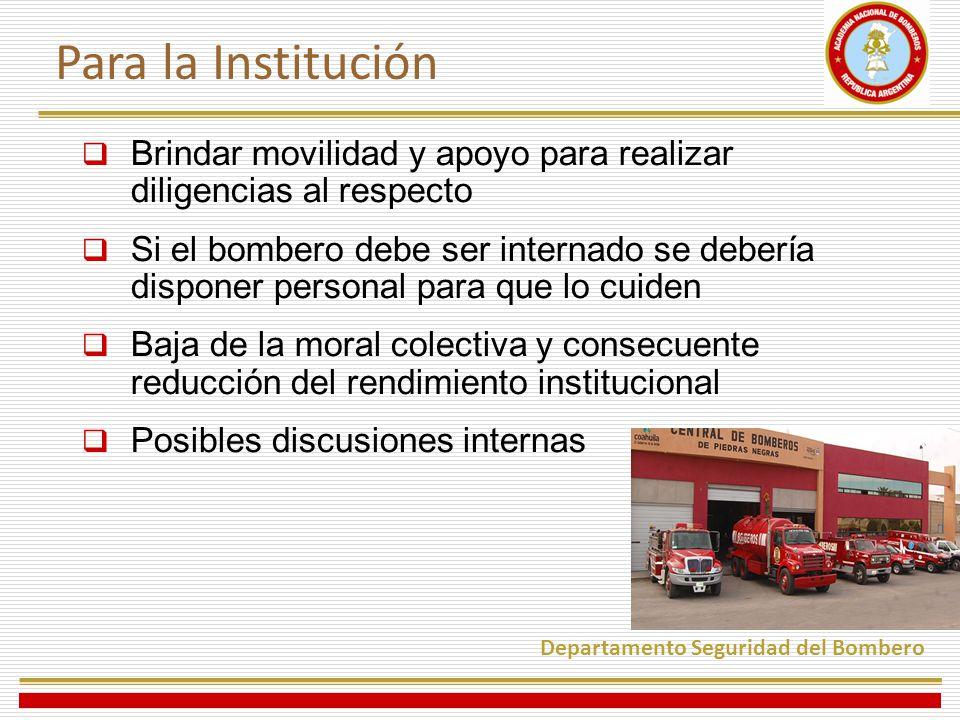 Para la Institución Brindar movilidad y apoyo para realizar diligencias al respecto.