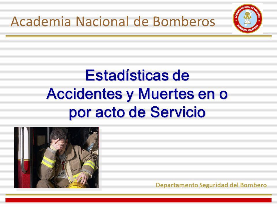Estadísticas de Accidentes y Muertes en o por acto de Servicio